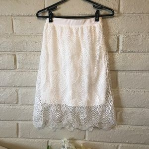 Charlotte Russe lacy skirt